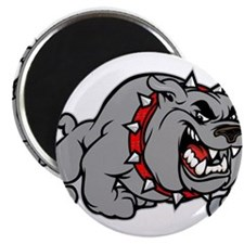 grey bulldog Magnets