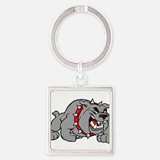 grey bulldog Keychains