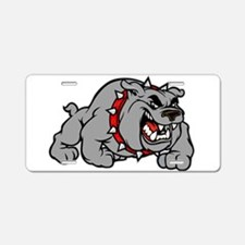 grey bulldog Aluminum License Plate