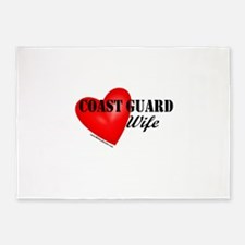 Red Heart_Coast Guard_Wife.png 5'x7'Area Rug