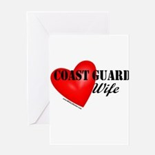 Red Heart_Coast Guard_Wife Greeting Cards