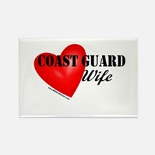Red Heart_Coast Guard_Wife Magnets