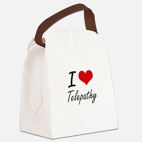 I love Telepathy Canvas Lunch Bag