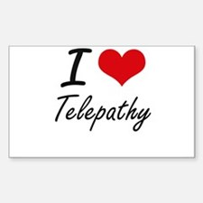 I love Telepathy Decal