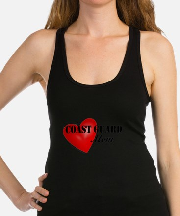 Red Heart_Coast Guard_Mom.png Racerback Tank Top