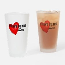 Red Heart_Coast Guard_Mom.png Drinking Glass