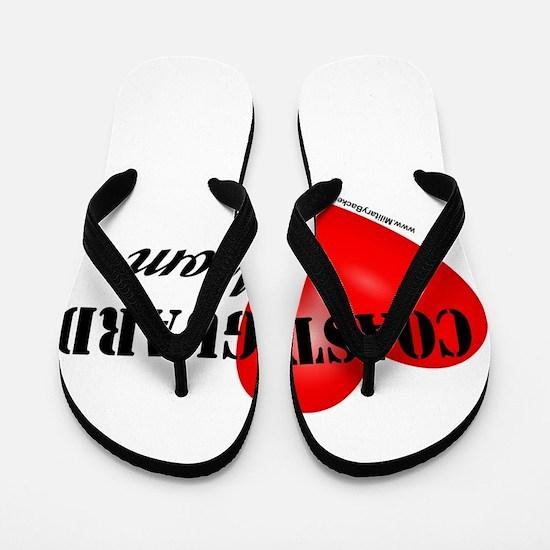 Red Heart_Coast Guard_Mom.png Flip Flops