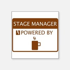 "Funny Stage manager Square Sticker 3"" x 3"""