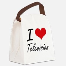 I love Television Canvas Lunch Bag