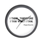 I Think Therefore I Yam Wall Clock