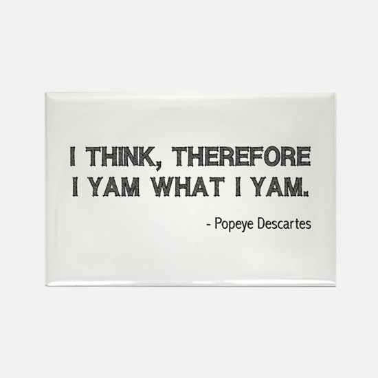 I Think Therefore I Yam Rectangle Magnet