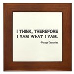 I Think Therefore I Yam Framed Tile