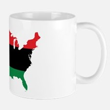 African American _ Red, Black & Green Colors Mugs