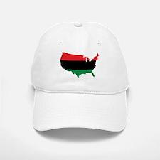 African American _ Red, Black & Green Colors Baseball Baseball Cap