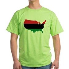 African American _ Red, Black & Green Colors T-Shi