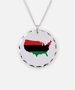 African American _ Red, Black & Green Colors Neckl