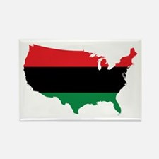 African American _ Red, Black & Green Colors Magne