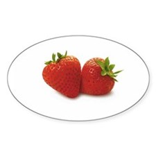 Strawberry Oval Decal