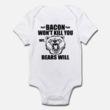 Bacon Bears Infant Bodysuit