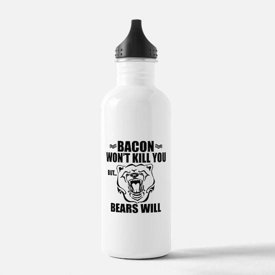 Bacon Bears Water Bottle