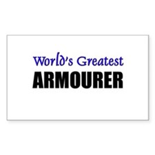 Worlds Greatest ARMOURER Rectangle Decal