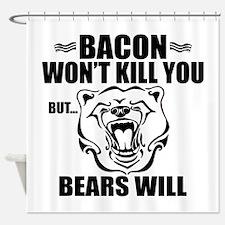 Bacon Bears Shower Curtain