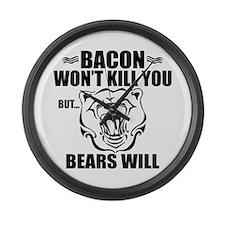 Bacon Bears Large Wall Clock