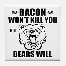 Bacon Bears Tile Coaster