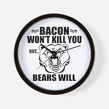 Bacon Bears Wall Clock