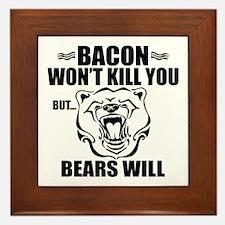 Bacon Bears Framed Tile
