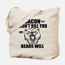 Bacon Bears Tote Bag