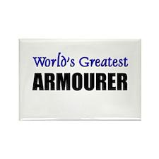 Worlds Greatest ARMOURER Rectangle Magnet