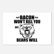 Bacon Bears Postcards (Package of 8)