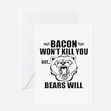 Bacon Bears Greeting Card
