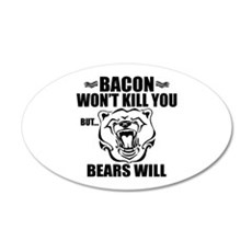 Bacon Bears Wall Decal
