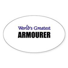 Worlds Greatest ARMOURER Oval Decal