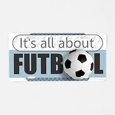 All About Futbol Aluminum License Plate