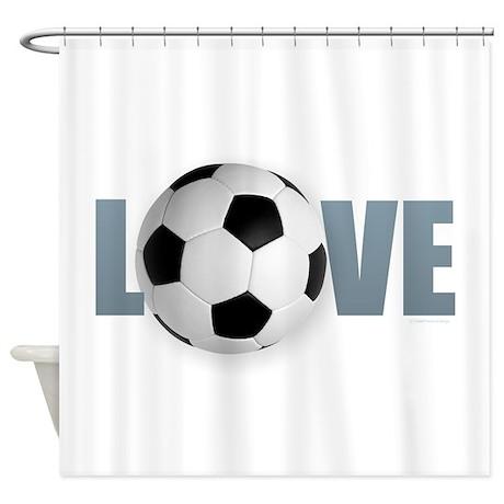 Love Soccer Shower Curtain