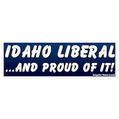 Proud Idaho Liberal Bumper Bumper Sticker