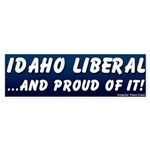 Proud Idaho Liberal Bumper Sticker