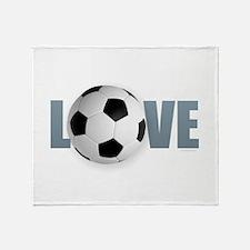 Love Soccer Throw Blanket