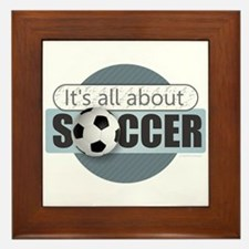 All About Soccer Framed Tile