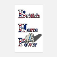 British Horse Power Rectangle Decal