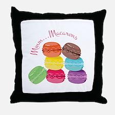 Mmm...Macarons Throw Pillow