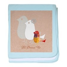 Custom All Dressed Up Birds Family baby blanket