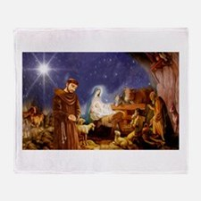 St. Francis Christmas #1 Throw Blanket