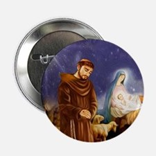 """St. Francis Christmas #1 2.25"""" Button"""