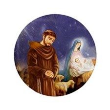 St. Francis Christmas #1 Button