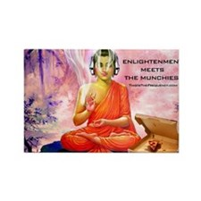 Unique Psychedelic trippy buddha Rectangle Magnet