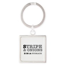 STRIPE AND ONIONS - ZEBRA STOMACH Keychains